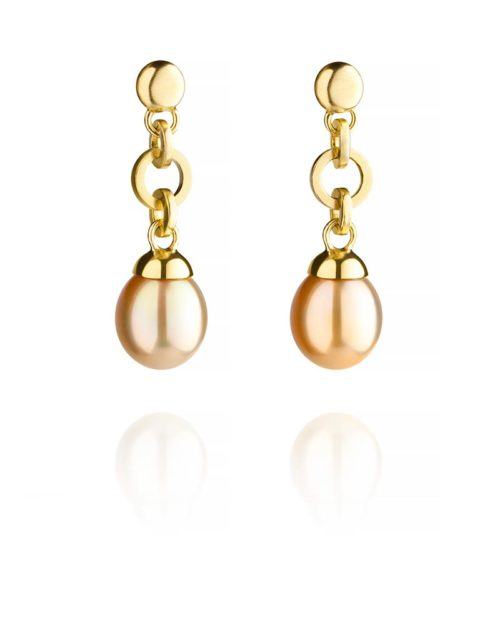 18k Gold South Sea Pearl Earring Drops