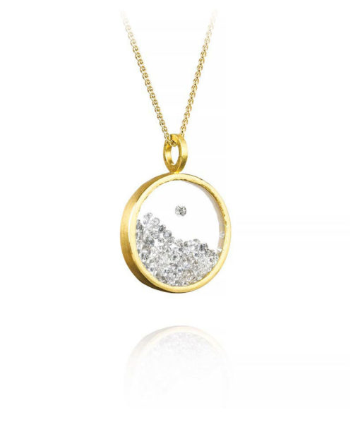 22k Gold Diamond Shaker Pendant