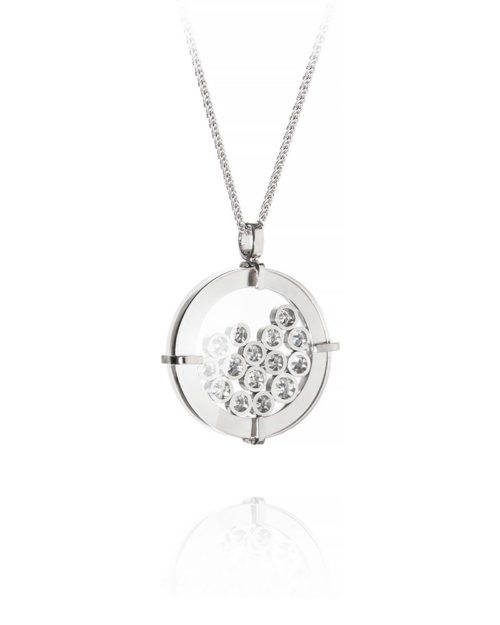 Palladium Diamond Shaker Pendant