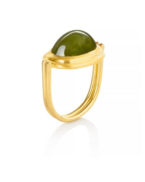22k Gold Jade Ring