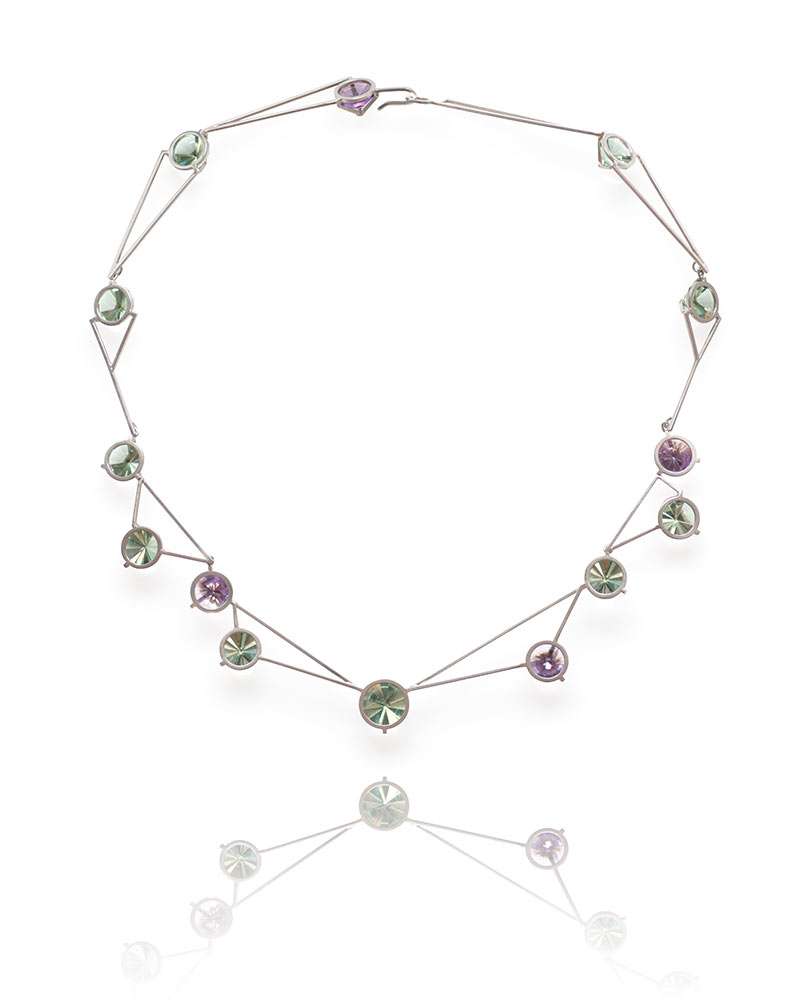 soderstrom gold april necklace n rose amethyst product green